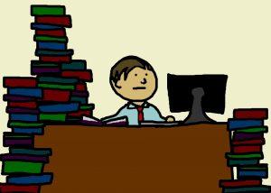 man-studying-cartoon