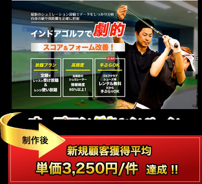 制作後、新規顧客獲得平均 単価3,250円/件 達成!